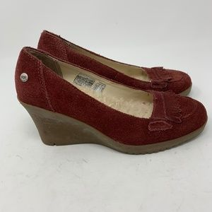 Ugg, Suede Wedges Fleece Lined Sz.7 (346)